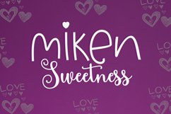 Miken Sweetness Duo font duo Product Image 1