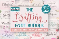 The Crafting Font Bundle Product Image 1