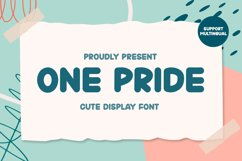 One Pride - Cute Display Font Product Image 1