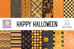 Happy Halloween Digital Papers and Patterns Product Image 1