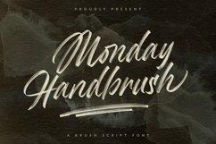Monday Handbrush - A Brush Script Font Product Image 1