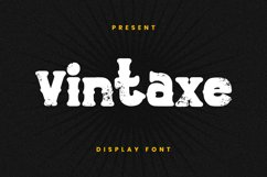 Vintaxe Font Product Image 1