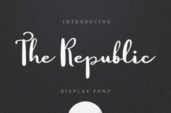 The Republic Font Product Image 2