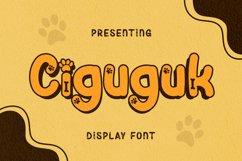 Ciguguk Font Product Image 1