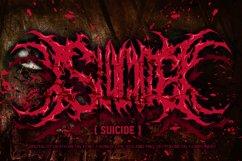 SUICIDE brutal death metal font #2 Product Image 1