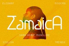 Zamaica - sans serif monoline font Product Image 1