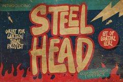 Steelhead - cartoon font brush Product Image 1