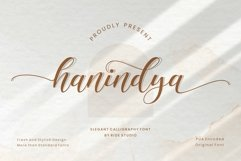 Hanindya - Elegant Calligraphy Script Font Product Image 1
