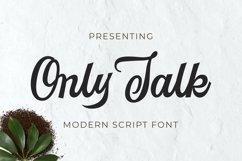 Onlytalk Font Product Image 1