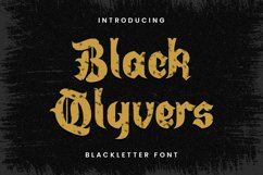 BlackQlyvers - A Gothic Blackletter Font Product Image 1