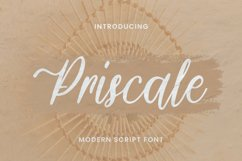 Priscale Font Product Image 1
