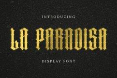 LAPARADISA Font Product Image 1