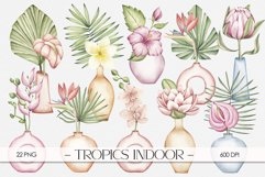 "Watercolor ClipArt ""Tropics Indoor Product Image 1"
