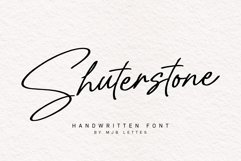 Shuterstone Handwritten Font Product Image 1