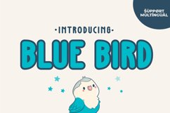 Blue Bird - Cute Display Font Product Image 1