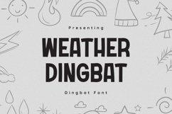 WeatherDingbat Font Product Image 1