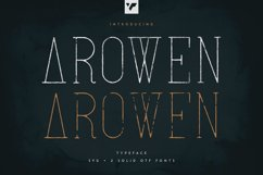 Arowen - Textured Rough Fonts Product Image 1