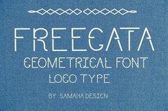 Modern Sans Serif font. FREEGATA - Thin Line Logo Font. Product Image 2