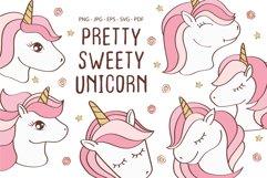 Cute Unicorn Face, Cartoon Pony Muzzle Product Image 1