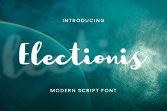 Electionis Font Product Image 1