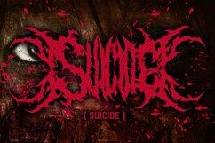 SUICIDE brutal death metal font #2 Product Image 3