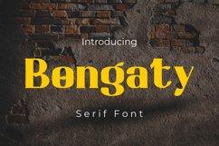Bongaty - Modern Serif Font Product Image 1