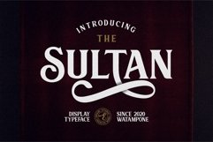 Sultan - Typeface Font Product Image 1