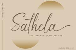 Sathela - handwritten font Product Image 1