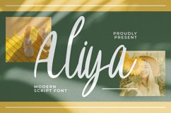 Aliya Font Product Image 1