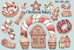 """Watercolor Set """"Christmas Bakery"""" Product Image 1"""