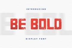 Be Bold Font Product Image 1
