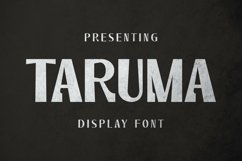 Taruma Font Product Image 1