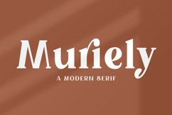 Muriely - A Modern Serif Product Image 1