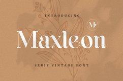 Maxleon Font Product Image 1