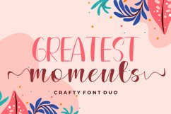Greatest Moments - Duo Fonts Product Image 1