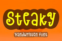 Steaky - A Cute Handwritten Font Product Image 1