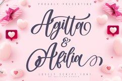 Agitta Afilia Lovely Script Font Product Image 1