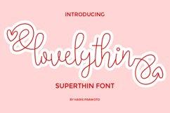 lovelythin Super Thin Font Product Image 1