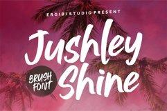 Jushley Shine - BRUSH FONT Product Image 1