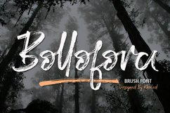 Bollofora - Brush Font Product Image 1