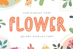 Flower - Quirky Display Font Product Image 1