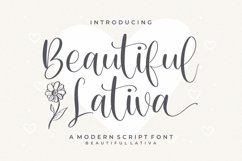 Beautiful - Lativa Modern Script Font Product Image 1