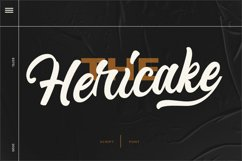 Hericake Script Bold Product Image 1