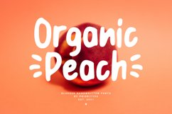 Organic Peach - Blurred Handwritten Fonts Product Image 1