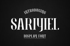 Sariyiel - Display Font Product Image 1