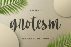 Grotesm Font Product Image 1