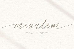 Miarlem - A Modern Calligraphy Font Product Image 1