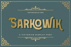 Sarkowik - Victorian Style Font Product Image 1