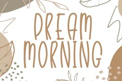 Dream Morning - Cute Display Font Product Image 1