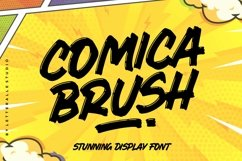 Comica Brush Display font Product Image 1